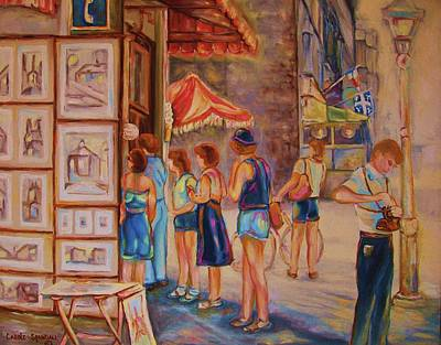 Painting - Artists Corner Rue St Jacques by Carole Spandau