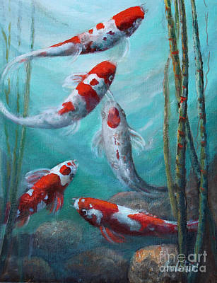 Artist's Pond Fish Art Print by Gail Salitui