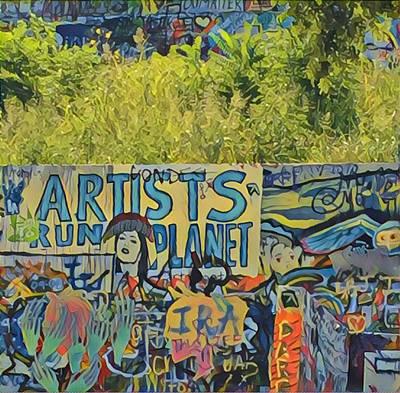 Artists Run The Planet Art Print