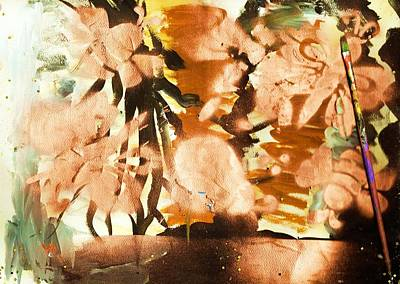 Leafy Mixed Media - Artist's Serendipity Abstract Painting by Anne-elizabeth Whiteway
