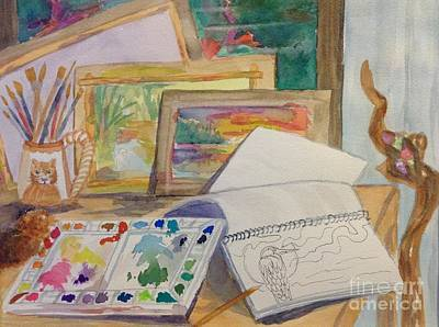 Painting - Artists Workspace - Studio by Ellen Levinson