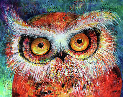 Painting - Artprize Hoot #1 by Laurel Bahe