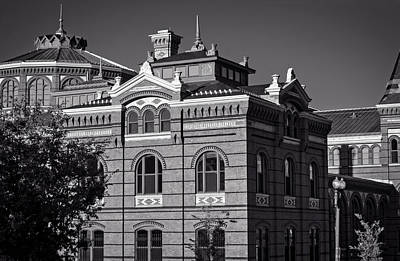 Smithsonian Museum Photograph - Arts And Industries Building In Black And White by Greg Mimbs