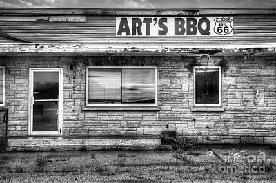 Route 66 Photograph - Art's Bbq by Twenty Two North Photography