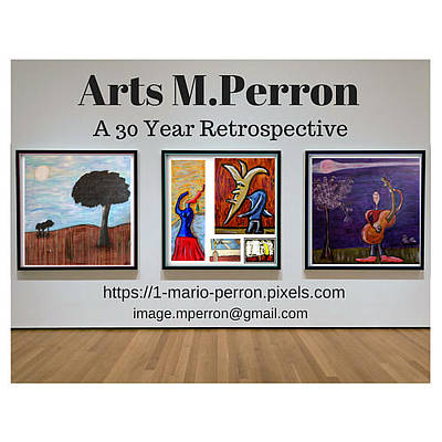 Digital Art - Arts Mperron Retrospective Design by Mario MJ Perron