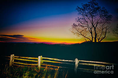 Photograph - Artsy Autumn Sunrise by Dan Carmichael