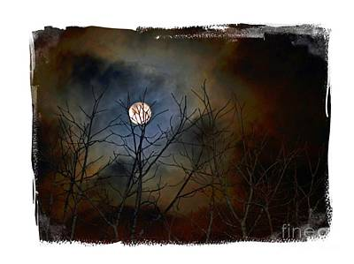 Photograph - Artsy Moon by Lila Fisher-Wenzel