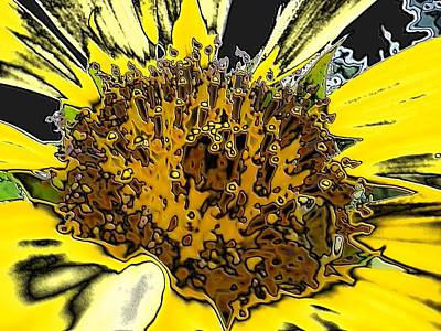 Artsy Sunflower Art Print