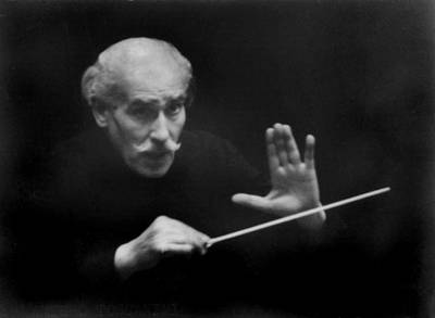 Arturo Toscanini 1867-1957 Conducted Art Print by Everett