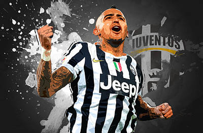 Allegri Digital Art - Arturo Vidal by Semih Yurdabak