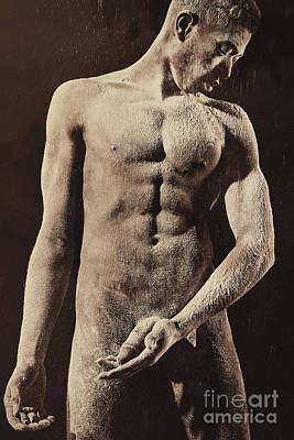 Photograph - Artwork Made Of A Nude Male  by William Langeveld