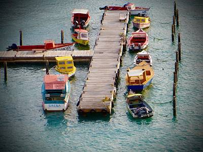 Photograph - Colorful Fishing Boats by Jean Marie Maggi