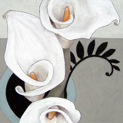 Arum Lily Painting - Arum, Three by Susan Lishman