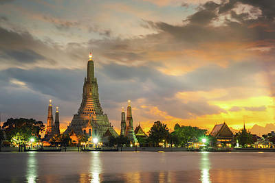 Photograph - Arun Temple Or Wat Arun Is Icon Of Thailand Travel  by Anek Suwannaphoom