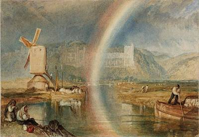 Arundel Castle Painting - Arundel Castle On The River Arun by Joseph