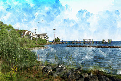 Digital Art - Arundel On The Bay by Mal-Z