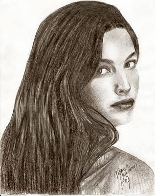 Liv Tyler Drawing - Arwen by Maren Jeskanen