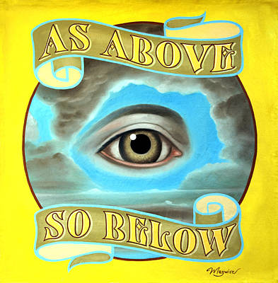 Juxtapose Painting - As Above So Below by Molly McGuire