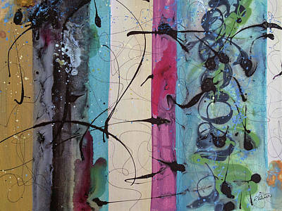 Reds Gold Greens White Blues Painting - As I Looked by Ruth Palmer