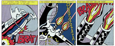 Photograph - As I Opened Fire - Pop Art by Doc Braham - In Tribute to Roy Lichtenstein