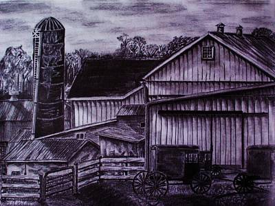 Amish Drawing - As It Was by Jeremy Satteson