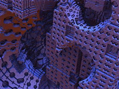 Mandelbulb Digital Art - As Night Falls by Lyle Hatch