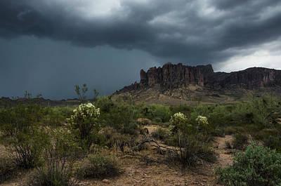Photograph - As Rain Falls On The Superstitions  by Saija Lehtonen