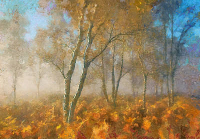Digital Art - As Summer Turns To Autumn Mist by Georgiana Romanovna