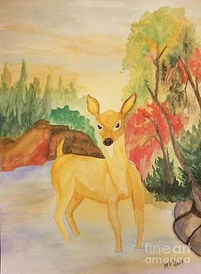 Painting - As The Deer Panteth For The Water by Maria Urso