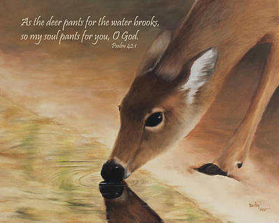 Becky Painting - As The Deer Verse by Becky West