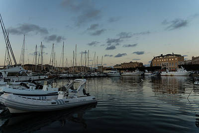 As The Evening Gently Comes - Ortygia Syracuse Sicily Grand Harbor Art Print