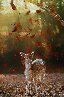 Photograph - As The Leaves Fall - Painting by Ericamaxine Price