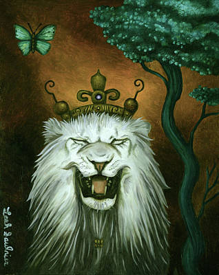 Art Print featuring the painting As The Lion Laughs by Leah Saulnier The Painting Maniac