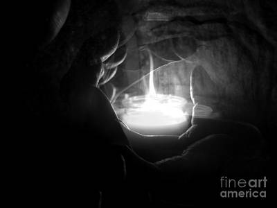 Hands Photograph - As The Spirit Moves Through His Hands by Abstract Angel Artist Stephen K