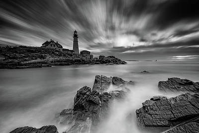 Photograph - As The Storm Clears At Portland Head by Rick Berk