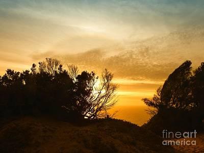 As The Sun Fades Away Art Print by Scott Cameron