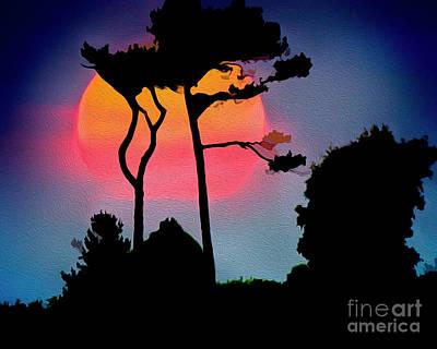 Digital Art - As The Sun Sets by Edmund Nagele