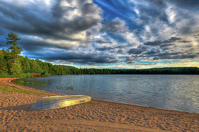 Photograph - As The Sun Sets On Nicks Lake by David Patterson