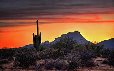Photograph - As The Sun Sets On Red Mountain  by Saija Lehtonen