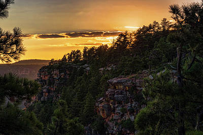 Photograph - As The Sun Sets On The Rim  by Saija Lehtonen
