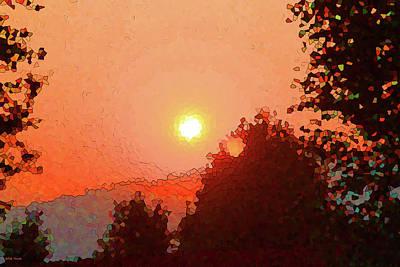 Mixed Media - As The Sun Sets by Rick Thiemke