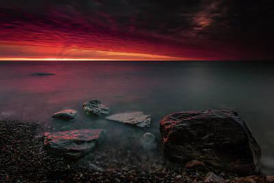 Photograph - As The Sun Turns The Sky by CA Johnson