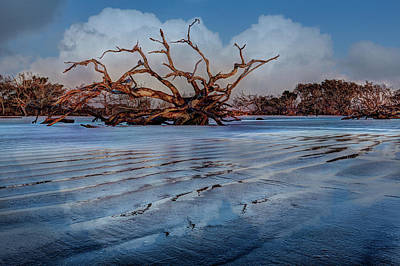 Photograph - As The Tide Goes Out by Debra and Dave Vanderlaan