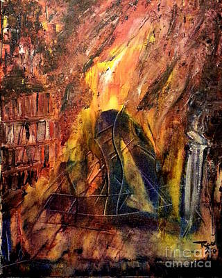 Painting - As The World Burns by Reed Novotny