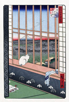 Digital Art - Asakusa Ricefields And Torinomachi Festival By Hiroshige by Ruth Moratz