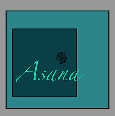 Digital Art - Asana In Blue by Kandy Hurley