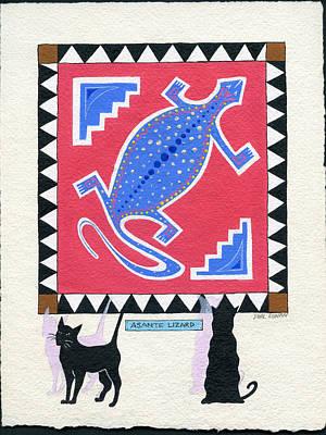 Painting - Asante Lizard by Phil Dynan