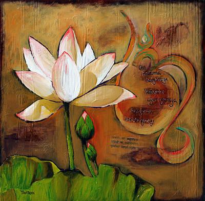 Lotus Bud Painting - Asatoma by Amy Tanathorn