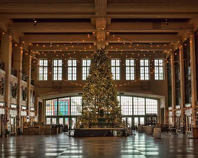 Photograph - Asbury Boardwalk Christmas Tree by Kristia Adams