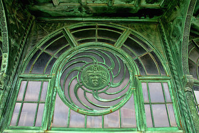 Asbury Park Carousel Window Photograph - Asbury Carousel Building Details by Kristia Adams